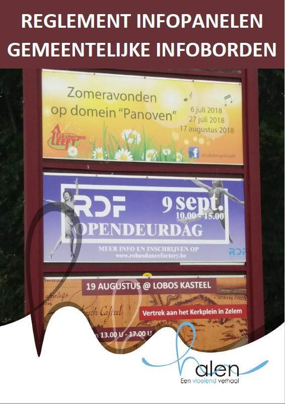 Cover reglement infopanelen