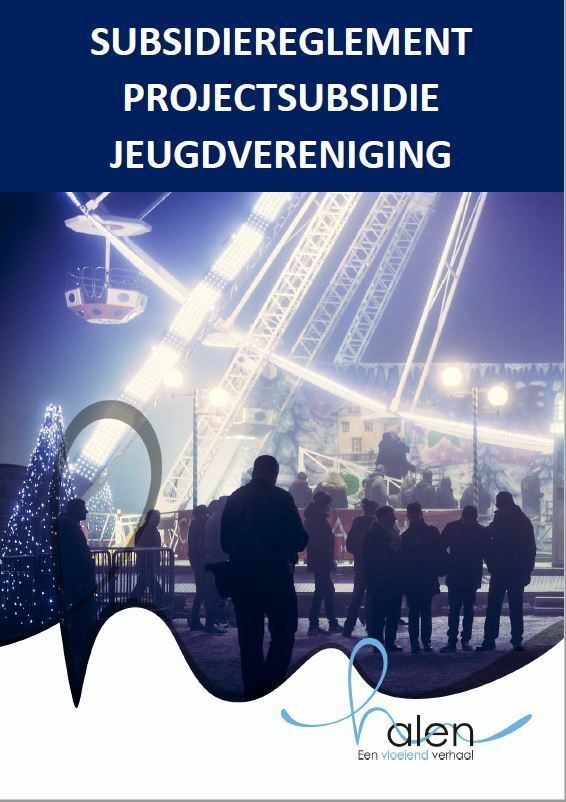 Cover subsidiereglement projectsubsidie jeugd